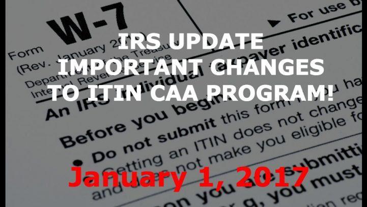 Urgent: IRS Eliminates ITIN Certifying Acceptance Agent Program Outside of the US!