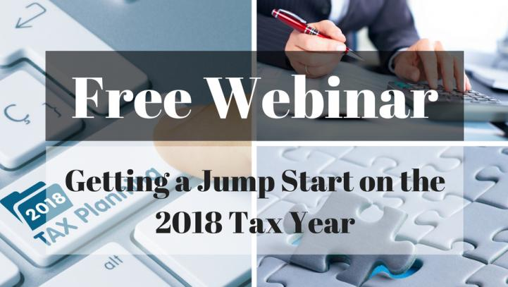 Getting a Jump Start on the 2018 Tax Year